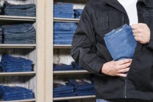 Man shoplifting in Plano, TX